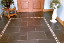 Brazilian Black Flooring and slabs / Brazilian Natural slate flooring tiles and slabs