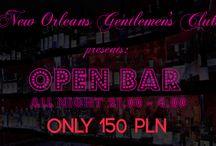 SUPER PROMOCJE w New Orleans Gentlemen's Club / W Nww Orleans Gentelemn's Club zawsze są świetne promocje na każda okazję i dla wszystkich