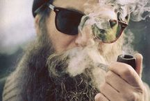 beards and tobacco pipes