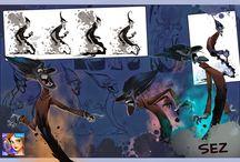 comics, illustration