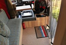 Interior VW LT Sven Hedin camper