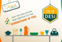 """Dil Se Desi / """"Jag goomeya thaare jaise na koi"""". Skip the englistaani and switch to the Hindustaani in you. Explore curated indigenous products from hand-picked vendors across India - products handcrafted with love for the true Indian in you because we were, we are and we will be #DilSeDesi """"ALWAYS"""""""