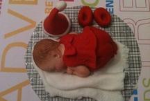 Girl Baby Christmas Cake Topper