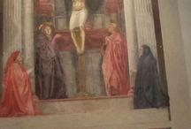 MASACCIO: TRINITA' / 1425. Firenze, Santa Maria Novella