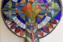 Celtic cross mosaic