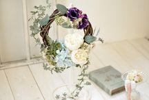 ウェルカムリース - Welcome wreath - / アートフラワーアレンジのウェルカムリース/フィーノ