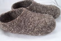 Slippers and socks / Hand made slippers and socks / by Brenda Davidson
