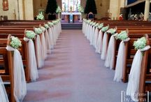 Our Lady of Victories - Classic Wedding Ceremony Styling / When the church is beautiful - there isn't too much that you need to add. Simple + elegant pew ends are our favourite.