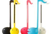 Otamatone cute musical instrument