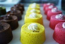 Angel cakes / Chiffon cakes / Une sélection de chiffon cakes, aussi appelés angel cakes