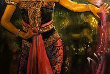 Marveling at Rasmono Sudarjo's culture-inspired paintings