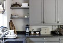 Grey cabinet doors