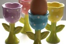 verzameling eierdoppen