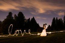 Wedding sparklers photos