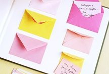 Scrap book envelopes
