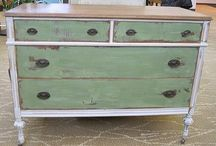 Painted office credenza
