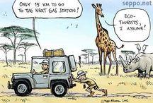 Cartoon description traveling