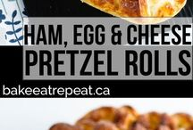 breakfast pretzel rolls