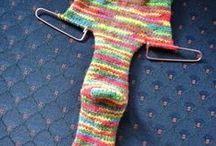 knitted sox 2 needles