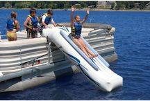 Pontoon boat / Our new toy / by Cynthia Little-Gault
