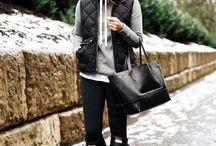 Winter rain fashion