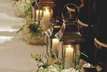 Wedding ceremony - floral arrangements