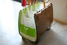 Recycling bins and carts