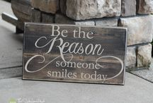 Distressed Wooden Home Decor Signs