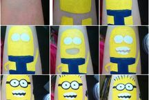Arm tattoo paint