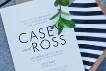 Modern Wedding Invites / Wedding Invitations
