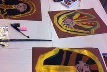 Egyptisch dodenmasker maken met verf