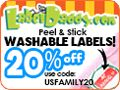 Label Maker / Label Daddy labels are also fun and attractive. You design your own labels! Pick from tons of colors, sizes and logos, including Disney and Marvel characters, MLB, NBA, and NHL team logos, other sport and fun logos, and more. Save 20% on your entire Label Daddy order - this is the best discount available anywhere. Use code USFAMILY20 at checkout. http://www.usfamily20.labeldaddy.com