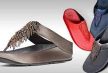 Fitflop / Caffeine for your feet.  Footwear built on Microwobbleboard midsoles which can help diffuse underfoot pressure and absorb shock.