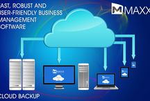 Cloud Back Up / Cloud storage is a way of storing data securely in a remote location which can then be accessed through the internet... http://maxxerp.blogspot.in/2013/10/maxx-fast-robust-and-user-friendly.html