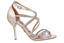 Badgley Mischka Bridal Shoes / Designer wedding shoes by Badgley Mishcka.  From stunning  high heels to chic flat bridal shoes