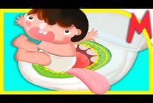 Малыш боится какать. ГОРШОК хочет съесть малыша! Приучение к горшку!
