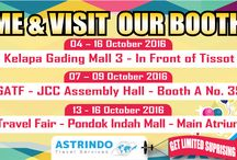 Come & Visit Our Booth / Don't Forget Come & Visit our Booth @MKGLaPiazza @gatf2016 @PondokIndahMall Sabre Travel Fair Dapatkan Special Discount hanya di Booth kami