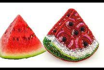 брошь фрукты ягоды мороженки и тортики