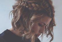 cabelos e maquiagens / Para cabelos curtos