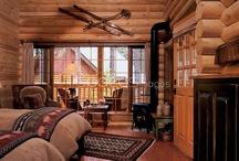 Log home look