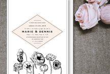 Bryllupsinvitation/Wedding invitation