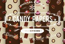 CANDY PAPERS / DIGITAL PAPERS - CANDY PAPERS BY DIGITAL PAPER SHOP