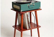 Vinyl player and record stand's ideas
