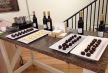 chocolate truffles / theses truffle are infused with olive oils and balsamic vinegars from a local shop in Annapolis MD.