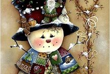 Paintings/altered canvas Xmas