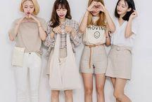 "korean fashion/moda koreańska / On this board are written pins of various creators.This table is the ""Korean fashion"" because it shows the Korean fashion."
