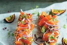 Baguette with smoked salmon and granadilla <br />Photo: Alida Ryder