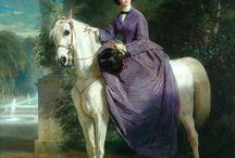 Портрет  Женщина и лошадь