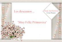 Feliz Primavera / Carteles -  Wedding Florencia Y Paula