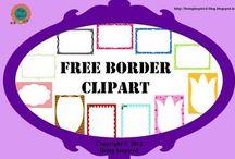 Clipart - Rámy papiere